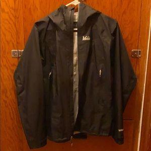 REI brand rain jacket